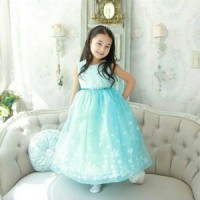 Jual Dress Elsa Ice Blue Murah