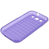 Grid TPU Case for Samsung Galaxy SIII / i9300 - Purple