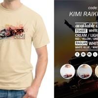 Kaos Kimi Raikkonen T-Shirt Raglan Distro Formula One F1 Racing