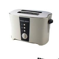 Black + Decker 800W Toaster / Pemanggang Roti Sandwich - Abu2