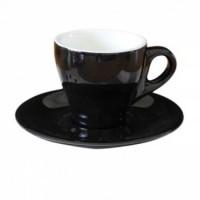 ZUMA Tulip Cappuccino Cup and Saucer CS16146-4 (Black)