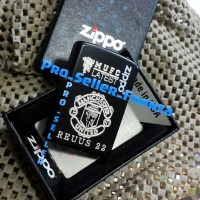Zippo Super Grade Ori Custom Grafir MUFC + Gratis Request Nama........