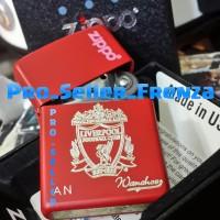 Zippo Super Grade Ori Custom Grafir Liverpool + Gratis Request Nama...