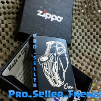 Zippo Super Grade Ori Custom Gambar Mobil + Gratis Request Nama!!