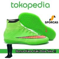 harga Gratis Kaos Kaki Bola !! Sepatu Futsal Nike Mercurial Superfly Green Tokopedia.com