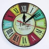 Jam Dinding Vintage - Kayu Classic Dengan Design Modern