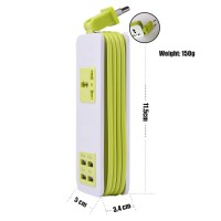 Jual Imi USB Power Strip With 4 Ports Portable Travel Charger - Green Murah