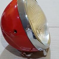 harga Reflektor Cb-100 Casing Besi Merah Headlamp Lampu Motor Bulat Tokopedia.com