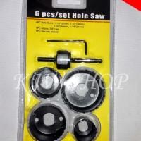 Holesaw / Hole Saw / Hidroponik Mata Bor Pelubang PVC Set 5 Pcs MURAH