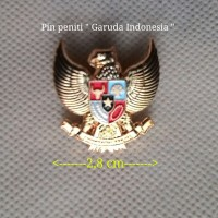 "Pin peniti warna emas ""Garuda Indonesia"", per 1 pcs"