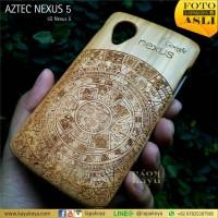 Jual LG NEXUS 5 / ONEPLUS ONE AZTEC - WOOD CASE KAYUKOYA SPECIAL EDITION Murah