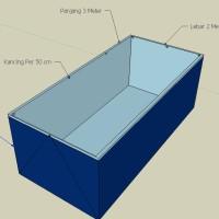 Terpal Kolam Lele 2x1x1 Meter   Kolam Terpal Ukuran 2 x 1 x 1 Meter