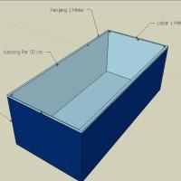 Terpal Kolam Lele 2x1x0.5 Meter | Kolam Terpal Ukuran 2 x 1 x 0.5 M