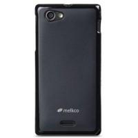 MELKCO Case Poly Jacket Sony Xperia J ST26i - Black