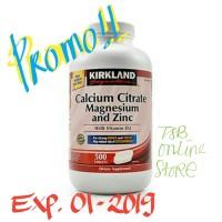 harga Kirkland Signature Calcium Citrate Magnesium And Zinc - 500 Tabs Tokopedia.com