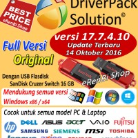 DriverPack Solution 17.6.6 Update Mei 2016 + USB Flashdisk 16 GB