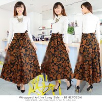 Wrapped A-Line Long Maxi Skirt / rok batik kain lilit
