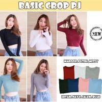 Basic Crop PJ [Atasan Wanita Blouse 0133]