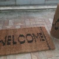 "Keset ""welcome"" sabut kelapa"