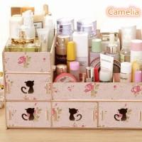 Jual [01] Rak kosmetik bahan kayu Desktop storage kitty cat Murah