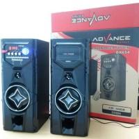 Speaker Active Subwoofer Advance DX654 with FM Radio MP3 Karaoke USB