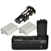 Lf577 Battery Grip Canon Eos 550d 600d 650d 700d Camera + 2 Battery