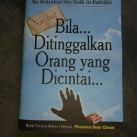 Buku Saku Nasihat Bila Ditinggalkan Orang Yang Dicintai