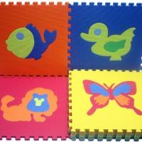 Jual Karpet Evamat 30cm x 30cm Gambar Aneka Hewan Murah