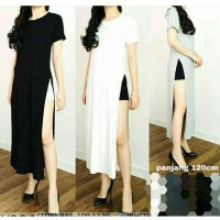 RO dress long long slit split dress / dress belah maxi panjang
