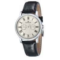 Thomas Earnshaw Flinders Men's Black Leather Strap Watch ES-8036-0
