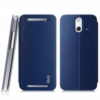 Imak Flip Leather Cover Case Series for HTC M8 - Blue