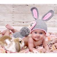 Kostum Foto Bayi Kelinci Rabbit Bunny Rajut Knit Crochet