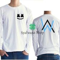 Harga tshirt kaos baju marshmello feat alan walker lenagn   Pembandingharga.com