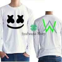 Harga tshirt kaos baju marshmello feat alan walker 2 lenagn   Pembandingharga.com