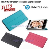 Flipcover HP Slate 6 VoiceTab : PREMIUM Ultra Slim Folio Cas LarisJaya