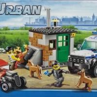 POLICE DOG UNIT Blocks Lego City Urban Mobil Jeep Polisi K9