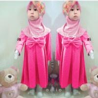 [st devina DR] baju muslim anak perempuan spandex pink
