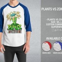 Kaos Plants vs Zombies 02 T-Shirt Raglan Distro Game Plant Zombie