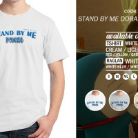 Kaos Stand By Me Doraemon Logo 01 T-Shirt Raglan Distro Anime