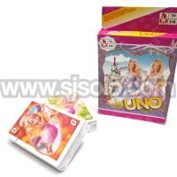 UNO Karakter Barbie Card Game Kartu Mainan