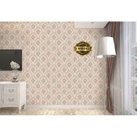 Wallpaper Dinding Kamar Motif Batik Pink Ukuran 45 cm x 10 m