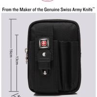 Case tas pinggang hp swiss army gear outdoor sport hiking armband 6,5