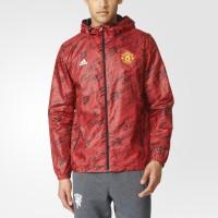 Jaket Adidas Manchester United FC Windbreaker Red Original AY2799