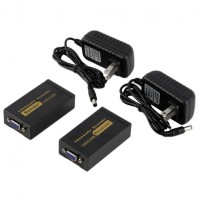 LEXCRON VGA & Audio Extender 100M VE-100 - Hitam