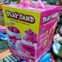 harga New Playsand Birthday cake Colorful kinetic play sand / mainan pasir Tokopedia.com