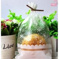 Plastik Kue Coklat permen hadiah gambar bunga cantik