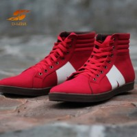 D-Island Shoes Sneakers High Arl New Reborn Comfort Red