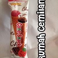 cone snack / es krim coklat jadul/ eskrim eskriman