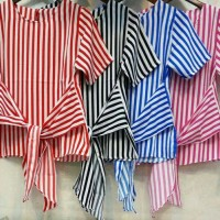 Blouse Stripe Grosir - code NF