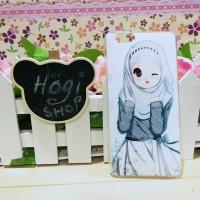 Custom Case Oppo F1 Bahan Softcase Casing Hijab HJ-44